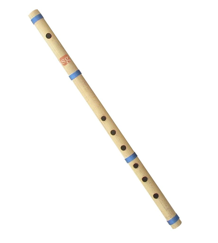 SG Musical Natural Medium Finest Indian Bansuri Bamboo Flute (Buy One Get One Free)