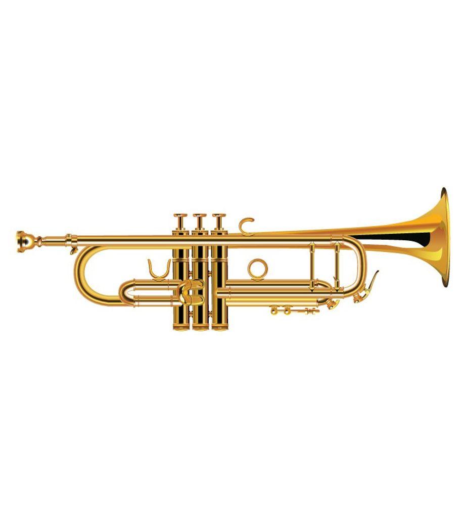 SG Musical SGM-L Lacquer Brass Bb Trumpet, Gold  Freebie