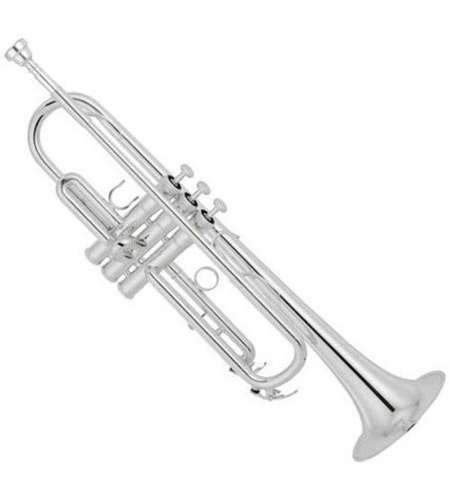 SG Musical Trumpet New Concert Band Real Silver plated Trumpet  Freebie