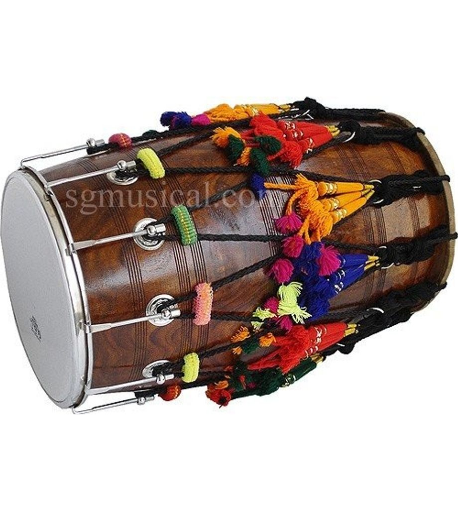 SG Musical  Wooden Bhangra Dhol Free Padded Carry Bag