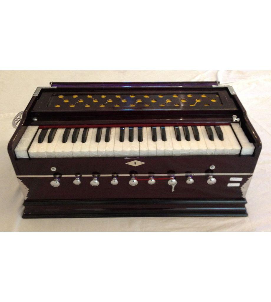 SG Musical Harmonium 9 Stopper, 42 Keys, Free Padded Carry Bag