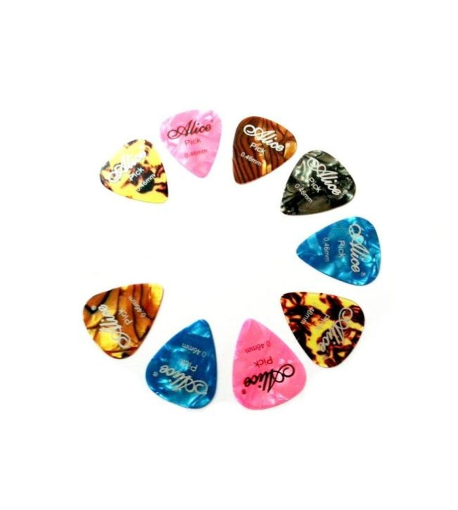Alice 9 Pcs Guitar Plectrums Pick Standard Style Thickness 0.46mm
