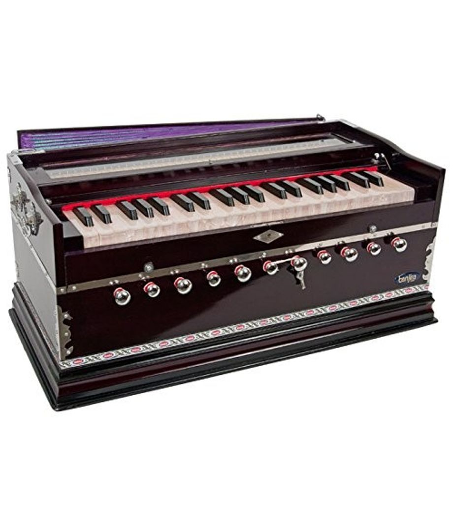 SG Musical Harmonium, Deluxe, Coupler, Purple Free Padded Carry Bag