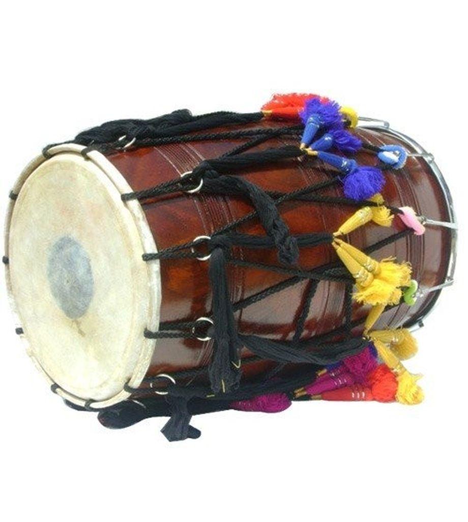 SG Musical Bhangra Dhol Sheesham Wood Free Padded Carry Bag