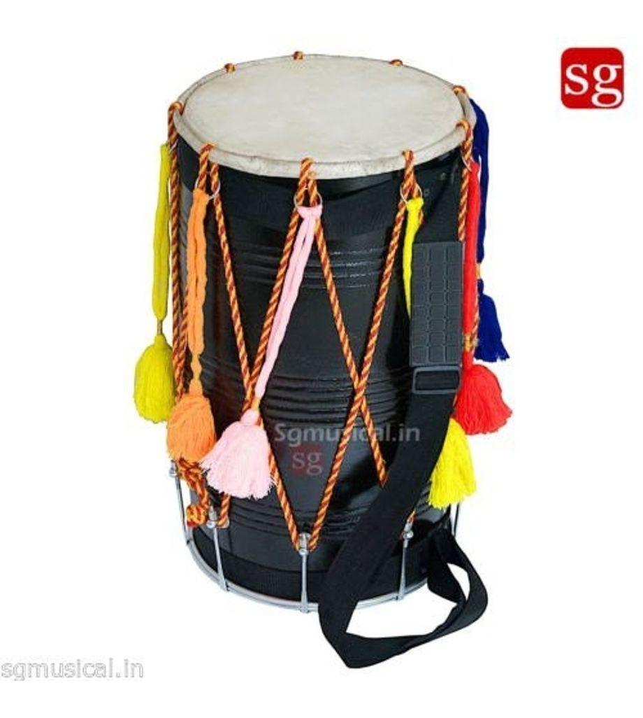 Sheesham Wood Bhangra Dhol Free Padded Carry Bag by SG Musical