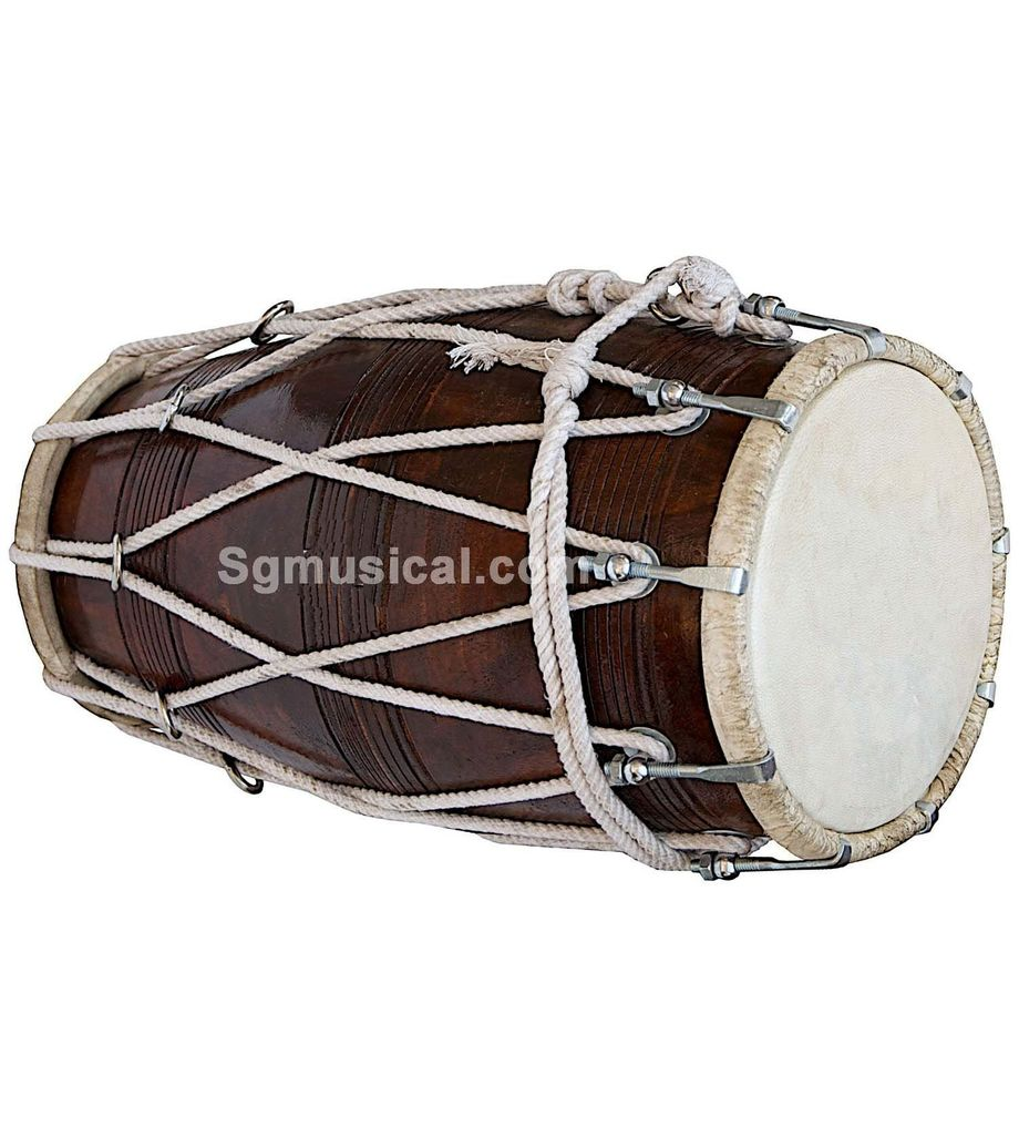 SG Musical Special Dholak,Sheesham Wood Free Tuning Spanner,Carry Bag