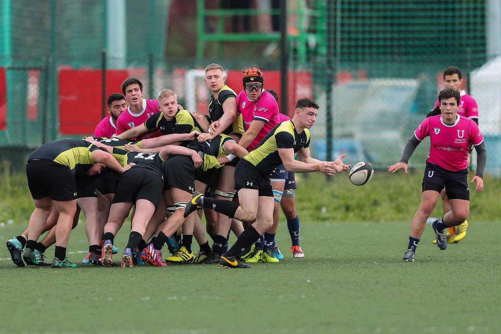 Coventry College Rugby Squad playing a match