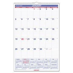 AT-A-GLANCE® Monthly Wall Calendar with Ruled Daily Blocks Thumbnail