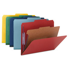 Smead® Four-Section Colored Pressboard Top Tab Classification Folders with SafeSHIELD® Coated Fasten Thumbnail