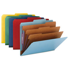 Smead® Eight-Section Colored Pressboard Top Tab Classification Folders with SafeSHIELD® Coated Faste Thumbnail