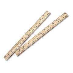 Charles Leonard® Beveled Wood Ruler with Metal Edge Thumbnail