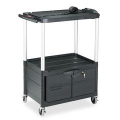 Rubbermaid® Commercial MediaMaster® Three-Shelf AV Carts with Cabinet Thumbnail