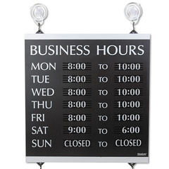 Headline® Sign Century Series Business Hours Sign Thumbnail