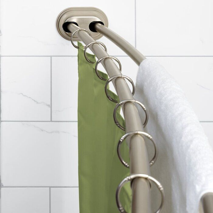 7222AdjustableCurvedTensionShowerCurtainRod-整理小浴室的22个妙招