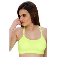 Secret Wish Fluorescent green Padded Sports Bra