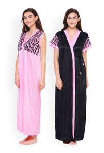 Secret Wish Women Pink Solid Nightdress