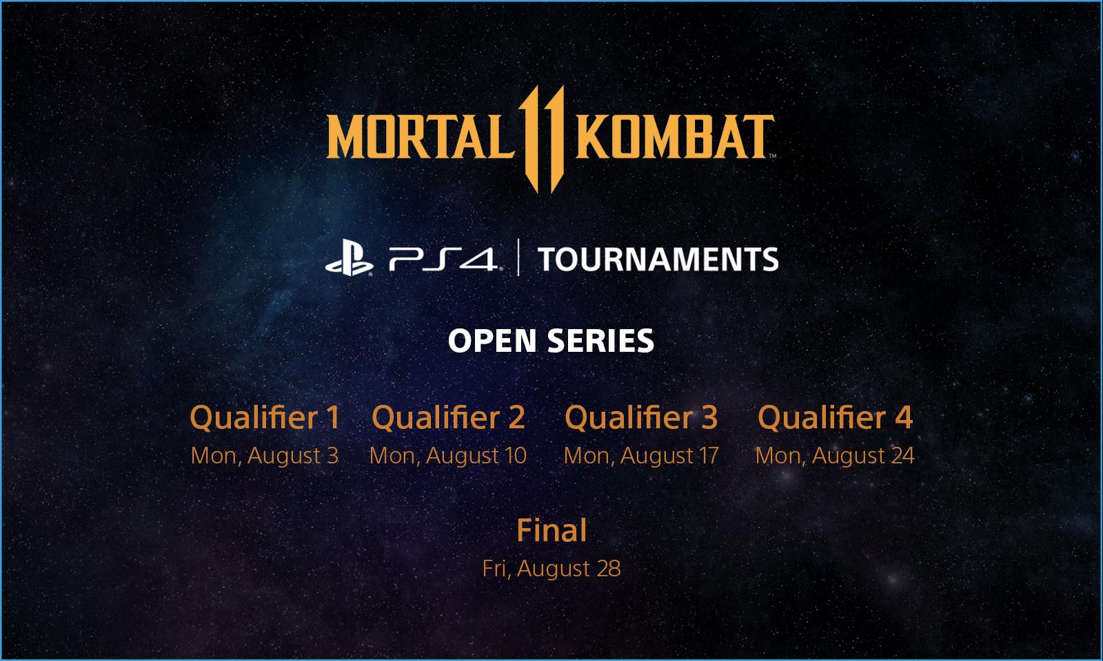 MK11 Open Series Schedule
