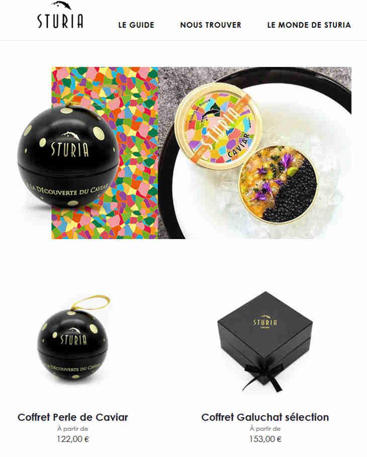Sturia Caviar Website