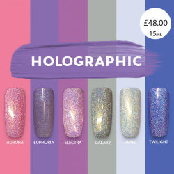 HOLOGRAPHIC GLITTER x 6 colours
