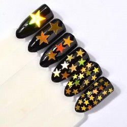 Star shaped glitter x 6