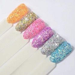 Round shaped extra fine glitter x 6
