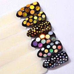 Round shaped glitter x 6