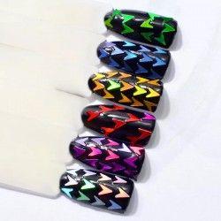 Arrow shaped glitter x 6