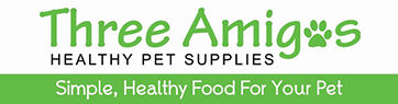 Three Amigos Healthy Pet Supply Logo