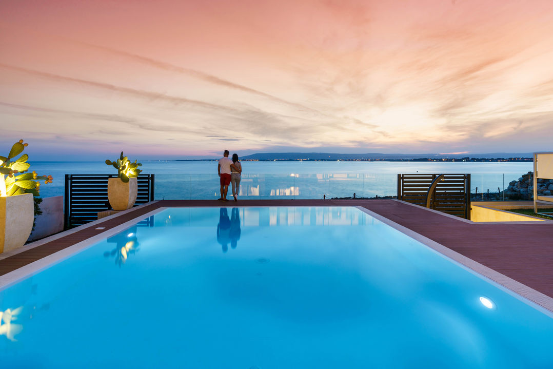 romantic holiday villa with pool seaview in sicily in relaxing atmosphere