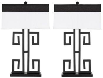 "Greek 28-Inch H Key Table Lamp, 18"" X 28"", Set Of 2"