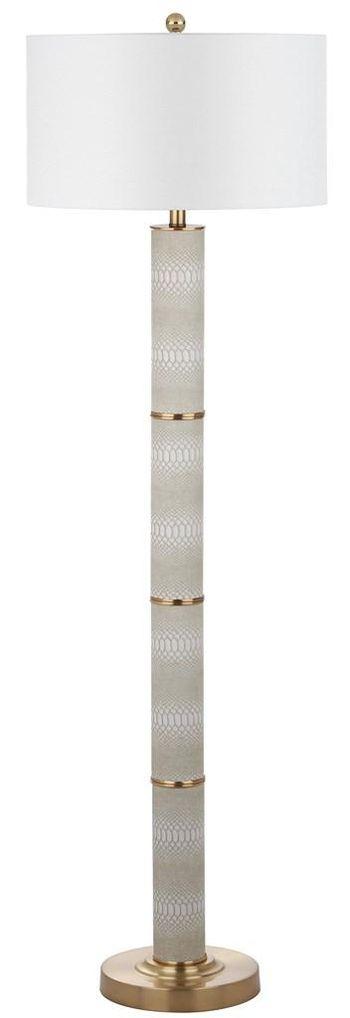 "Marcello 60.5-Inch H Faux Snakeskin Floor Lamp, 18"" X 60.5"""