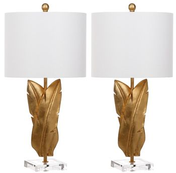 """Aerin 25.5-Inch H Wings Table Lamp, 13"""" X 25.5"""", Set Of 2"""