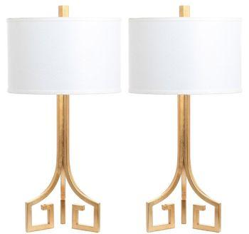"Arabelle Hardback 27.5-Inch H Table Lamp, 14"" X 27.5"", Set Of 2"