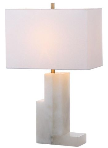 """Cora Alabaster 27.75-Inch H Table Lamp, 17"""" X 27.75"""""""