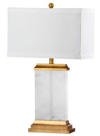 "Delilah Alabaster Table Lamp, 15"" X 25.5"""