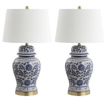 """Arwen Table Lamp, 17"""" X 30.5"""", Set Of 2"""