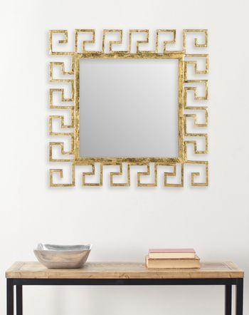 "Calliope Greek Key Mirror, 23"" X 23"""