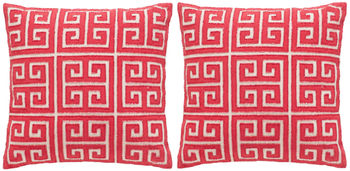 """Chy Pillow, 18"""" X 12"""", Set Of 2"""
