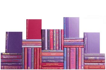 Modern Berry Book Wall, S/50