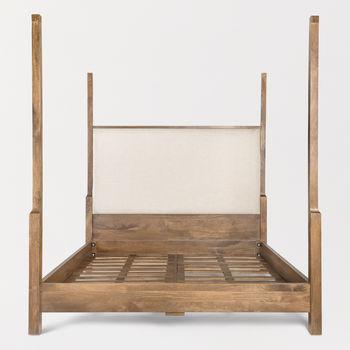 Everette Queen Bed In Subtle Linen And Brindled Ash