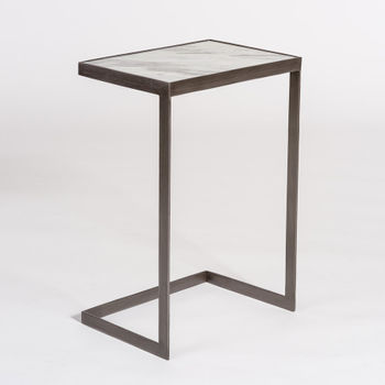 Laguna Accent Table In Siena Marble And Burnished Riviera