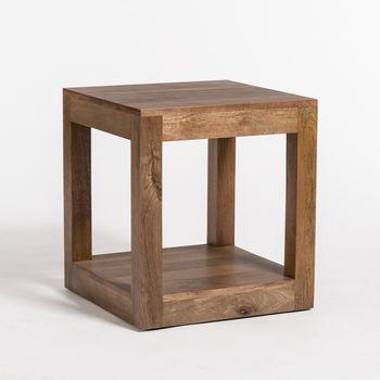 Morgan End Table In Brindled Ash