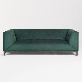 Truman Sofa In Dark Moss And Onyx Oak