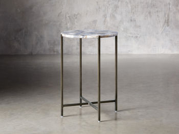 "Agate 14"" Martini Table In Grey"