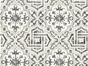 Arabesque Tile Wallpaper In Black