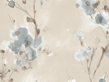 Blurred Poppies Wallpaper In Blue