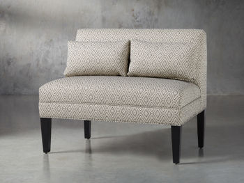 """Eaton Upholstered 41"""" Non-Tufted Bench In Davos Night"""