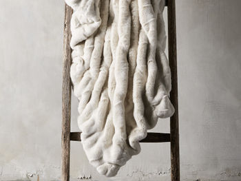 Faux Fur Luxe Oversized Throw In Ivory
