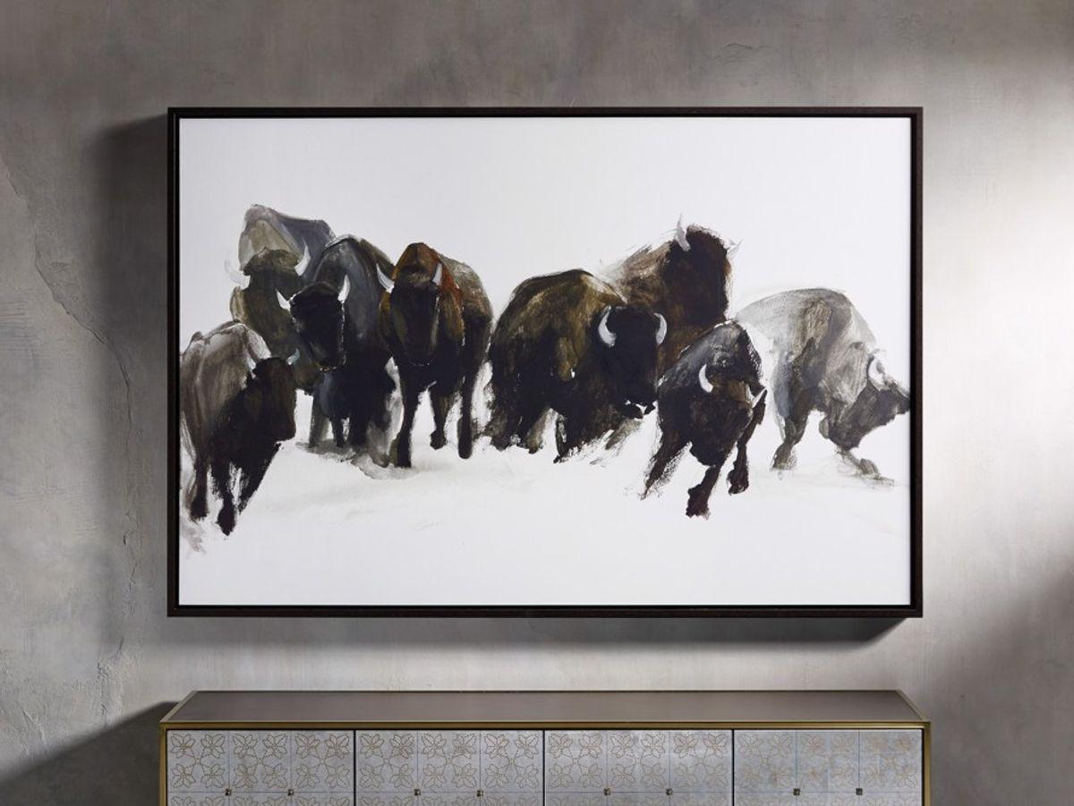 """Gathering 60"""" Framed Print"""