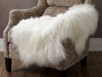 Ivory Tibetan Wool Throw